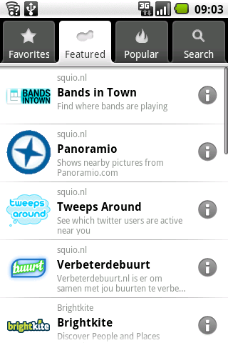 Select the Bandsintown layer and let the fun begin