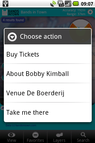 Now I can choose what to do: buy tickets or find out more information first...